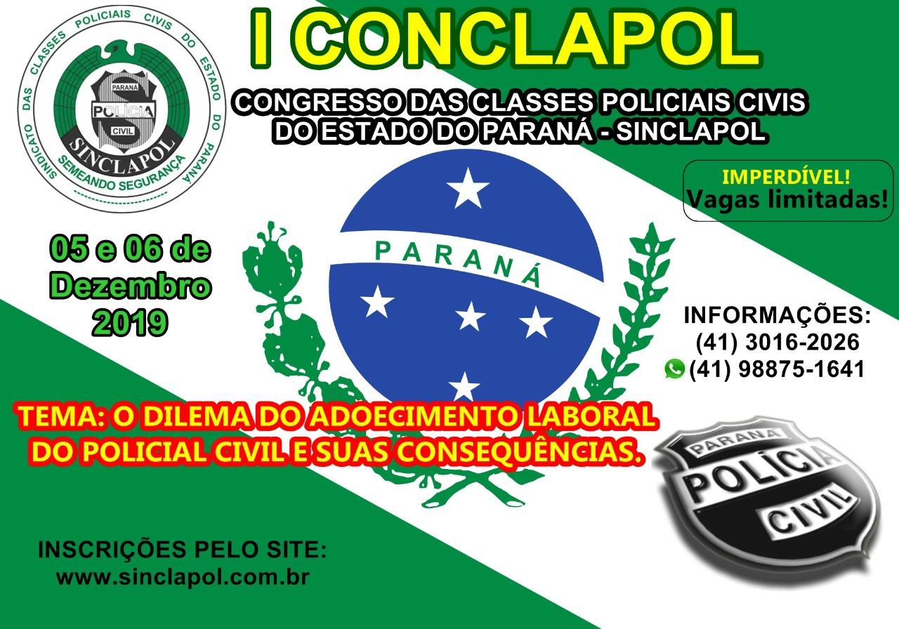 I CONCLAPOL (Congresso das Classes Policiais Civis do Estado do Paraná) – Sinclapol  Copy