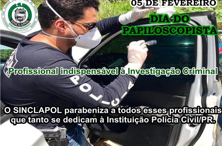NOSSOS PARABÉNS AOS PAPILOSCOPISTAS!!!