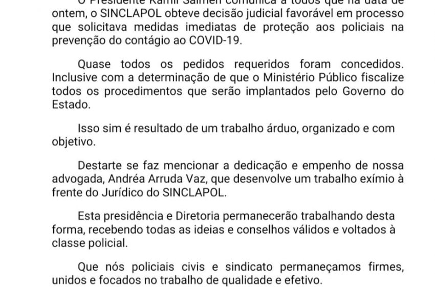 Decisão Judicial – COVID-19