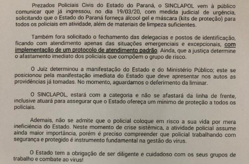 Ação Judicial SINCLAPOL