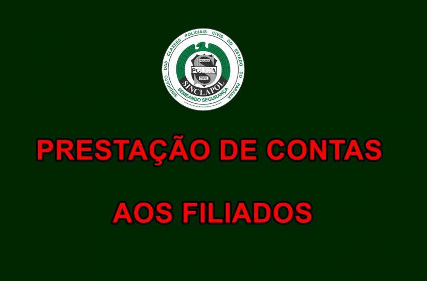 PRESTAÇÃO DE CONTAS AOS FILIADOS