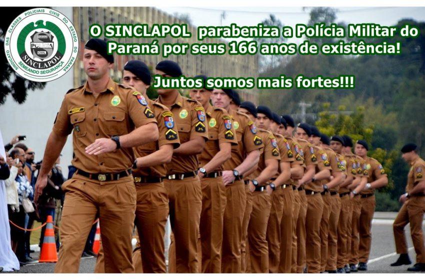 166 anos da Polícia Militar do Paraná!